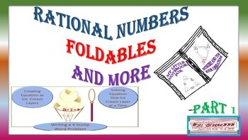Templates for Rational Numbers Foldables and More- Part 1