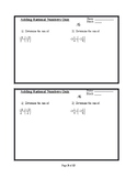 Rational Numbers Formative Assessments