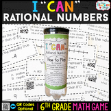 6th Grade Rational Numbers Game 6th Grade Math Game {I CAN