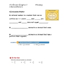Rational Numbers Guided Notes Big Ideas Math Red: 7th Grad