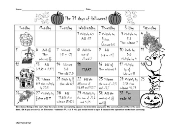 Rational Numbers Halloween