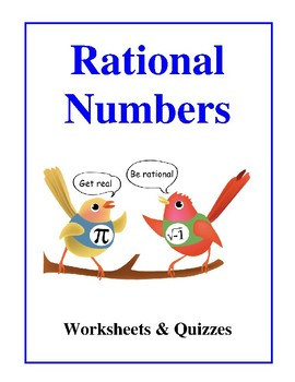 Rational Numbers, Worksheets & Quizzes