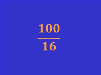 Rational Numbers Jeopardy Game