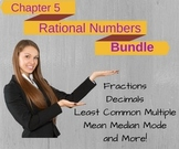 PreAlgebra: Rational Numbers Powerpoint Lesson Plans BUNDLE