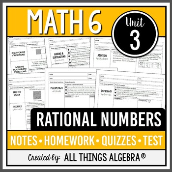 Rational Numbers (Math 6 Curriculum – Unit 3)