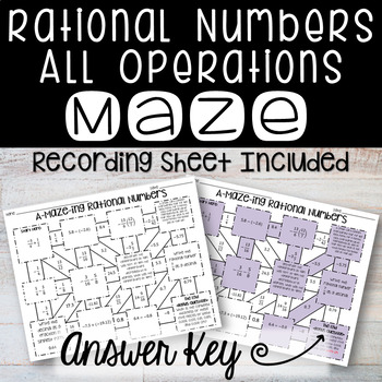 Rational Numbers Maze - All Operations