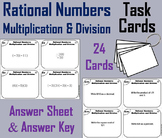 Rational Numbers Task Cards 4th 5th 6th 7th Grade: Multiplication and Division