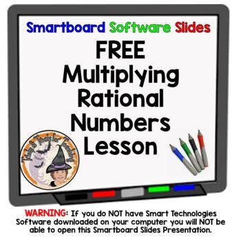 FREE Rational Numbers Multiplication Multiplying Smartboar