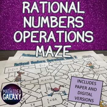Rational Numbers Operations Activity