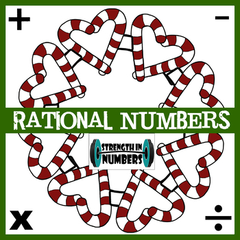 Rational Numbers Operations (+/- Fractions & Decimals) Christmas Wreath