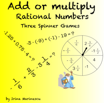 Rational Numbers Operations - Spinner Game