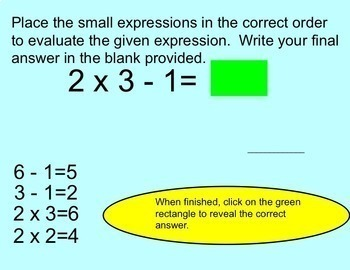 Rational Numbers Add Subtract Multiply Divide Order of Operations Smartboard