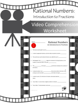 Rational Numbers (Part 1):  An Intro to Fractions VIDEO WORKSHEET