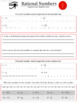 Rational Numbers (Part 2):   Absolute Value and Opposites FULL WORKSHEET SET