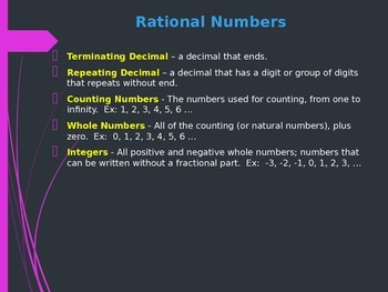 Rational Numbers PowerPoint Lesson