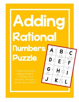 Rational Numbers Puzzle