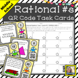 Rational Numbers QR Code Task Cards
