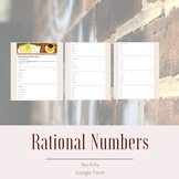Rational Numbers Quiz - 20 questions