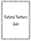 Rational Numbers Quiz
