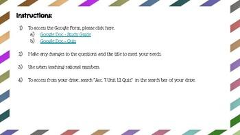Rational Numbers Quiz & Study Guide - Google Docs