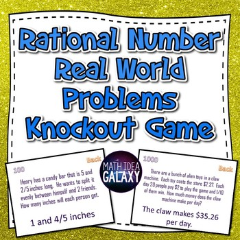 Rational Numbers Real World Problems Knockout Game