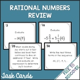 Rational Numbers Review Activity - Task Cards