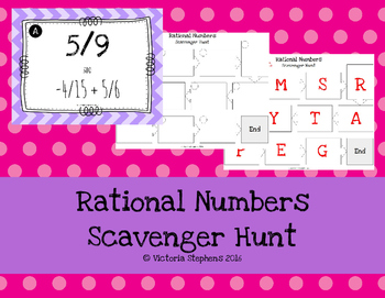 Rational Numbers Scavenger Hunt