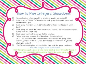 Rational Numbers Showdown Game