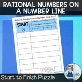 Rational Numbers Start to Finish Puzzle TEKS 6.2c CCSS 6.N