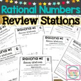 Rational Numbers Review Stations