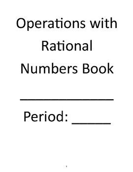 Rational Numbers Unit Book