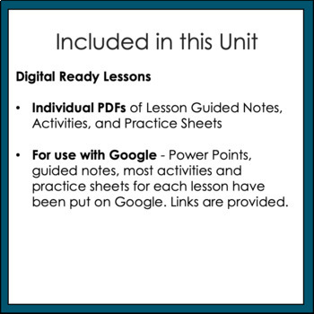 Rational Numbers Unit