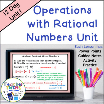Rational Numbers Unit Common Core 7 NS