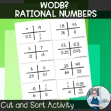 Rational Numbers Which One Doesn't Belong TEKS 7.2a