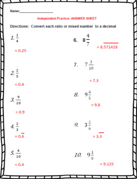 Rational Numbers and Decimals – 7th Grade Rational Numbers