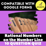 Rational Numbers on Number Line & Coordinate Plane Quiz fo