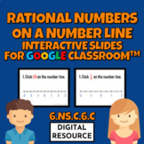 Rational Numbers on a Number Line 6.NS.C.6C for Google Classroom™