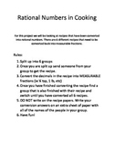 Rational Numbers with Cooking Project