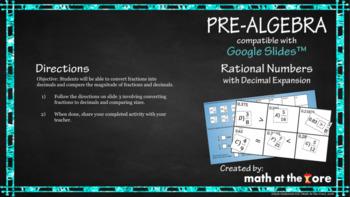 Rational Numbers with Decimal Expansion - GOOGLE Slides