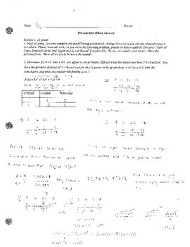 Rational Root Test/Descartes Rule of Signs, and Upper and Lower Bounds