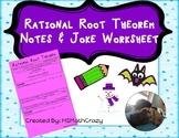 Rational Root Theorem Notes & Joke Worksheets