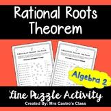 Rational Roots Theorem: Line Puzzle Activity