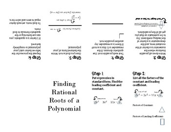 Rational Roots of a Polynomial Poof Book Foldable