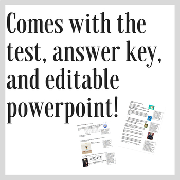 Rational Thinking Test: Test and Editable Powerpoint Included