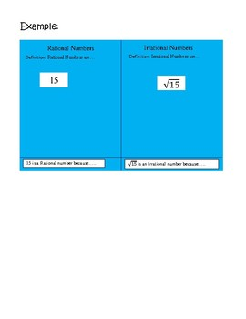 Rational Vs. Irrational Numbers - Poster Activity