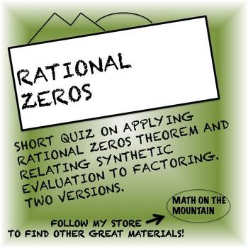 Rational Zeros