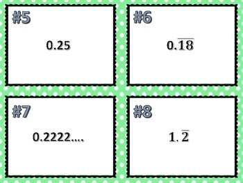 Rational and Irrational Conversion Task Cards