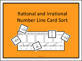 Rational and Irrational Number Line Card Sort