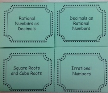 Rational and Irrational Numbers Foldable