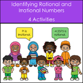 Identifying Rational and Irrational Numbers - 4 Activities